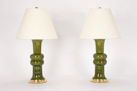 Pair of Medium Sophie Lamps in Spruce