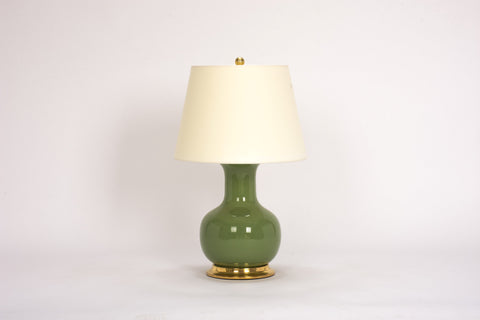 Single Medium William Lamp in Avocado