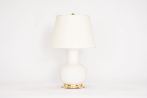 Single Medium William Lamp in Matte White