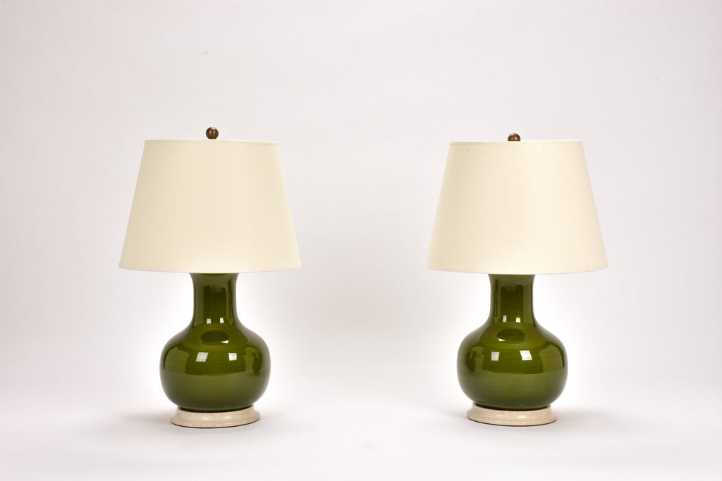 Pair of Medium William Lamps in Spruce