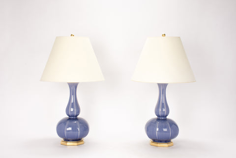Pair of Michael Lamps in Wisteria