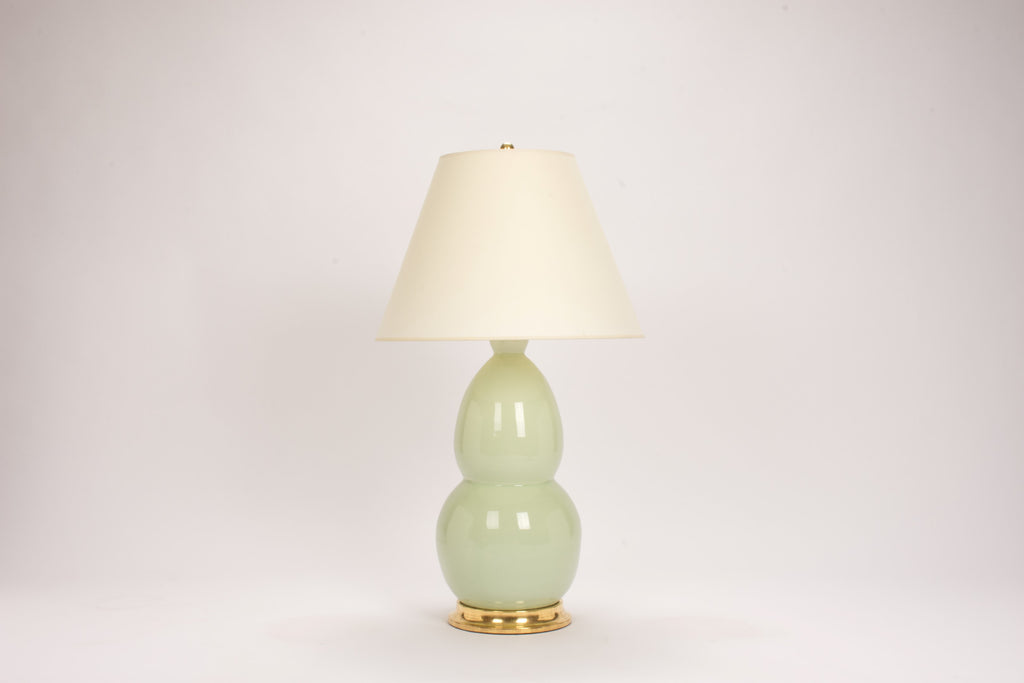 Single Modern Double Gourd Lamp in Blue Celadon