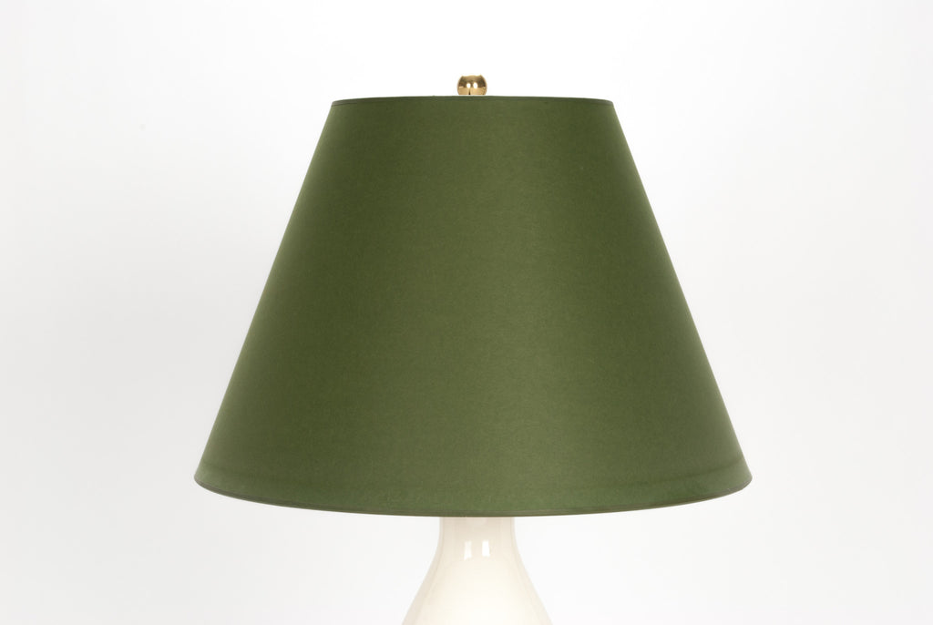 Lampshade in Moss Green Paper Vellum 9/18/13