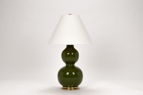 Carleton by Christopher Spitzmiller Natalie Lamp in Moss Green Lacquer