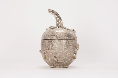 Medium Naturalistic Gourd in Platinum Luster