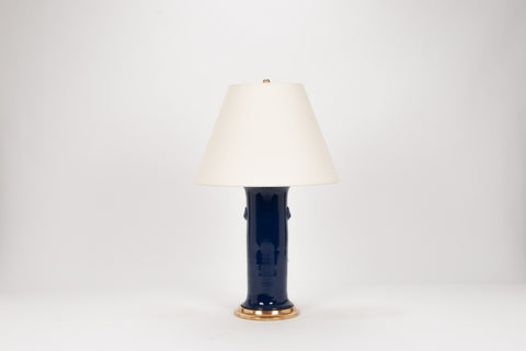 Single Patricia with Lions Lamp in Indigo