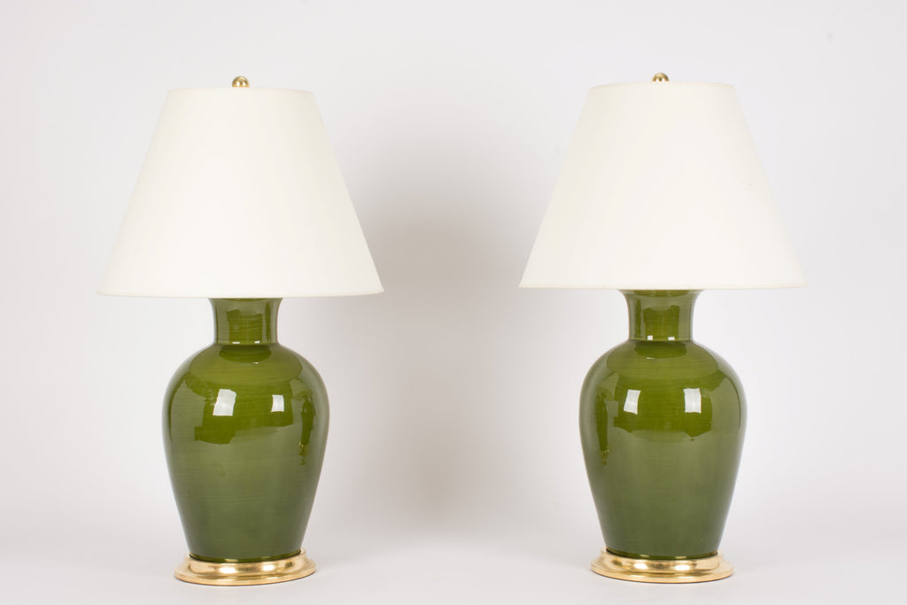 Pair of Penny Lamps in Spruce