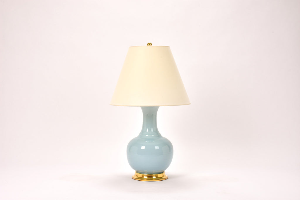 Single Ridged Single Gourd Lamp in Hydrangea