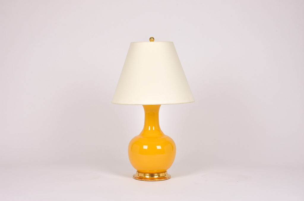 Single Ridged Single Gourd Lamp in Marigold