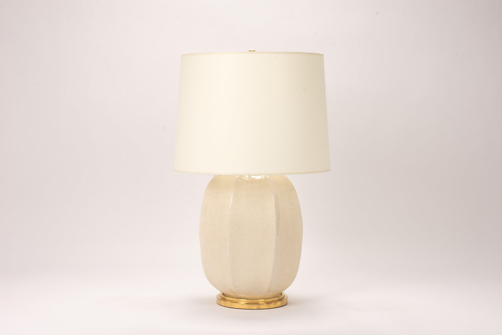 Single Sarah Lamp in Tea Stain Crackle