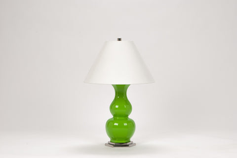 Carleton by Christopher Spitzmiller Sebastian Lamp in Fiddlehead Green Lacquer