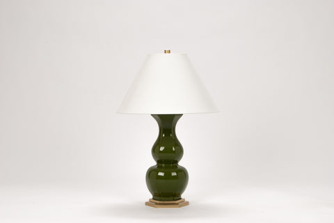 Carleton by Christopher Spitzmiller Sebastian Lamp in Moss Green Lacquer