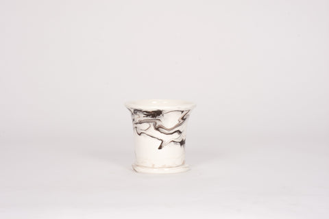 HT Small Cache Pot in Brown Marble