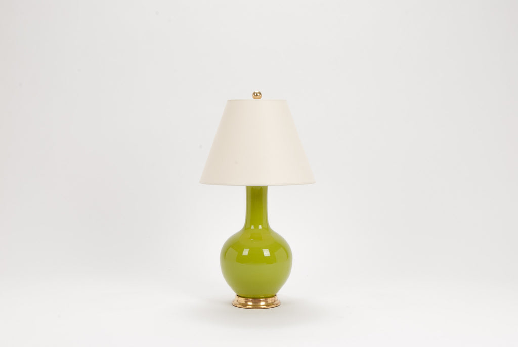 Single Small Single Gourd Lamp in Chartreuse