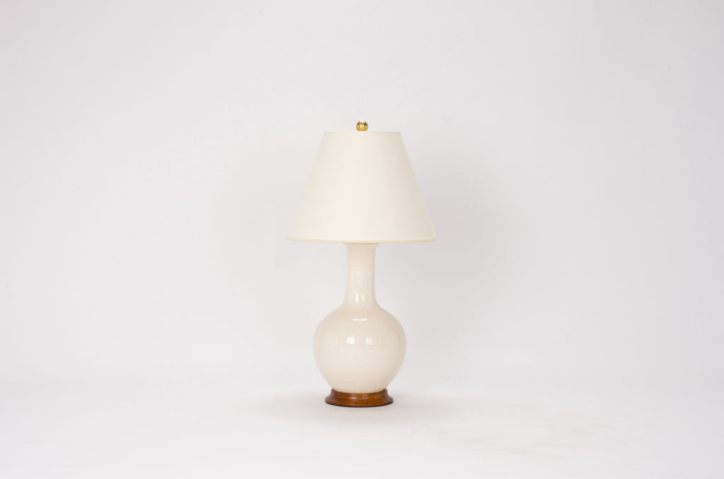 Single Small Single Gourd Lamp in Tea Stain Crackle