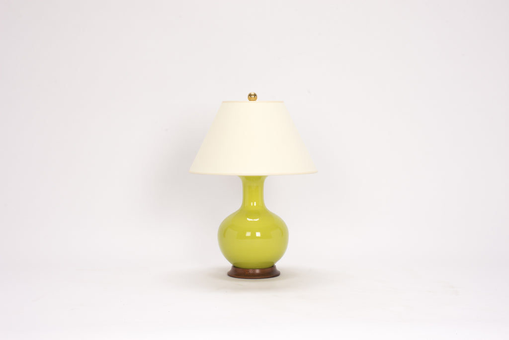 Single Small William Lamp in Apple Green