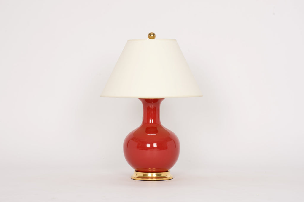 Single Small William Lamp in Raspberry