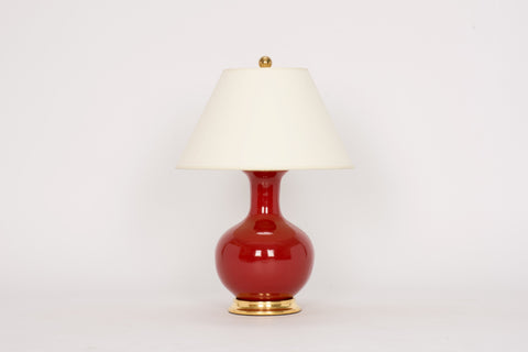 Single Small William Lamp in Scarlet