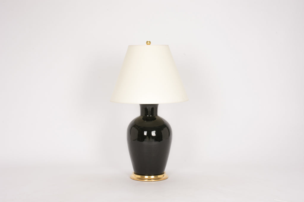 Single Soft Shoulder Lamp in Jet Black