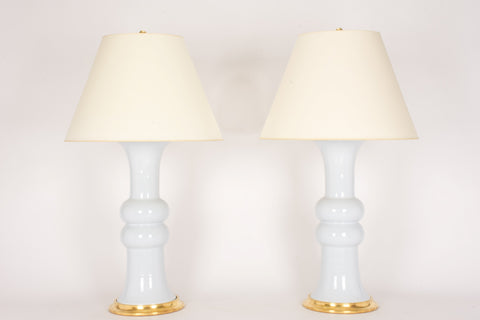Pair of Sophie Lamps in Hope Blue
