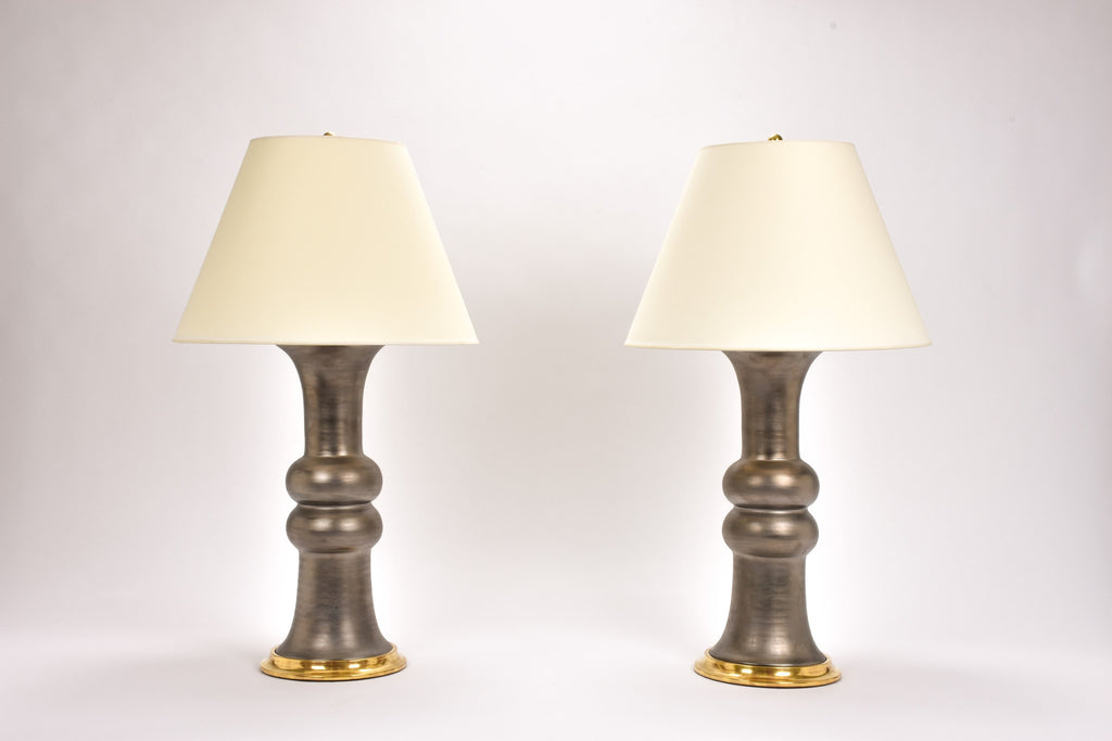 Pair of Sophie Lamps in Matte Bronze
