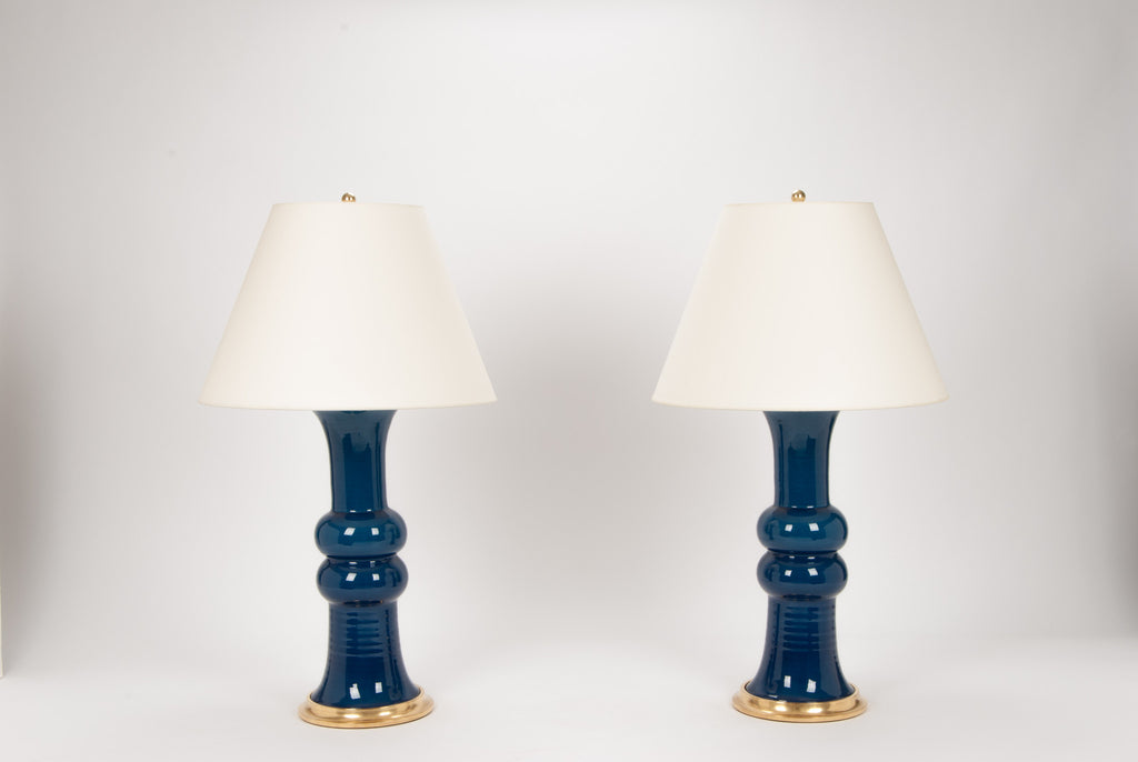 Pair of Sophie Lamps in Prussian Blue