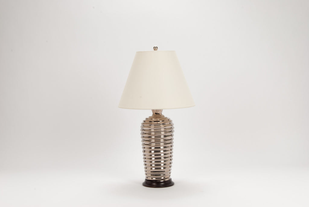 Single Spiral Lamp in Platinum Luster