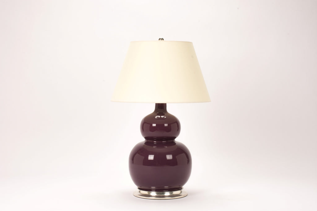 Single Stout Double Gourd Lamp in Aubergine