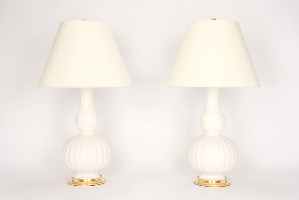 Pair of Suzanne Lamps in Matte White