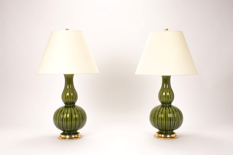 Pair of Suzanne Lamps in Spruce
