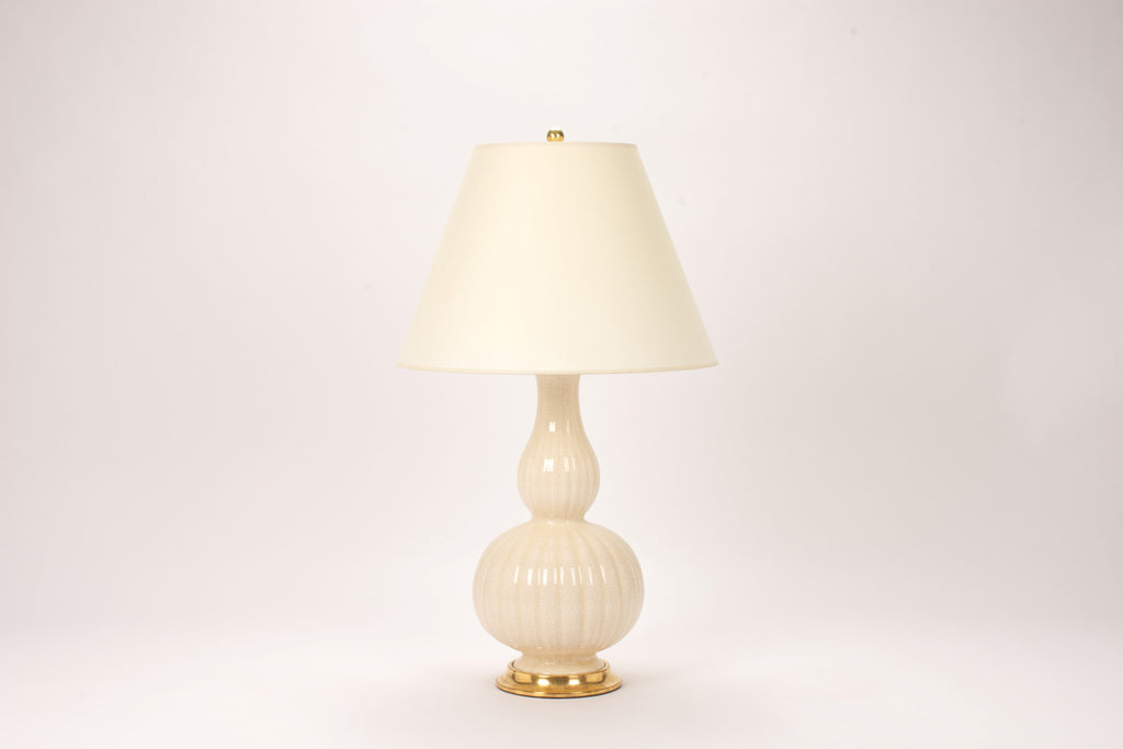 Single Suzanne Lamp in Tea Stain Crackle