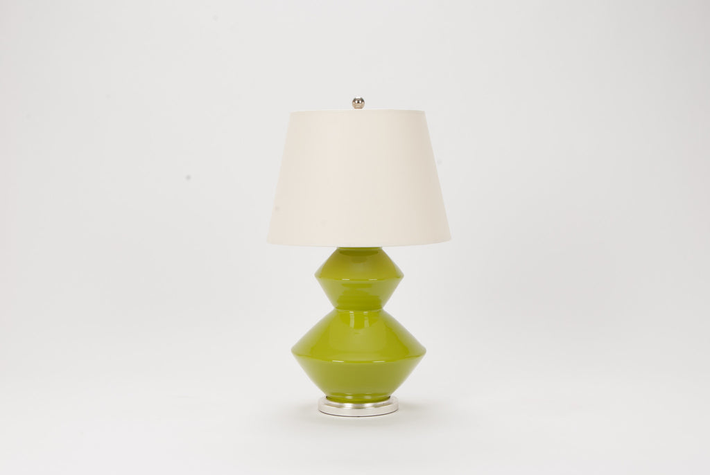 Single Wide Zig Zag Lamp in Chartreuse
