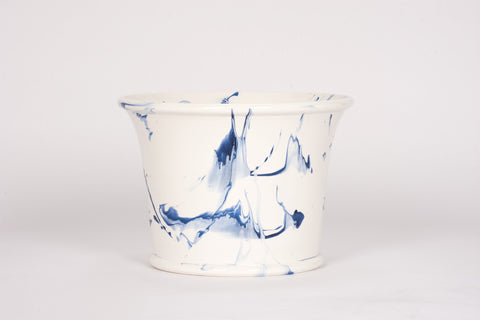 HT Extra Large Cache Pot in Delft Blue Marble