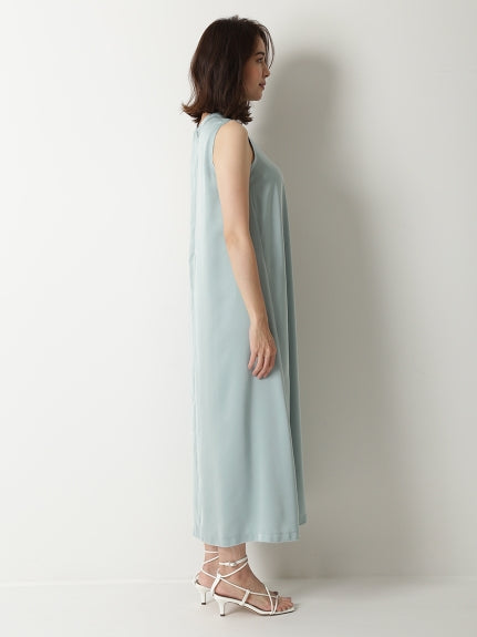 t-shirt like satin maxi dress