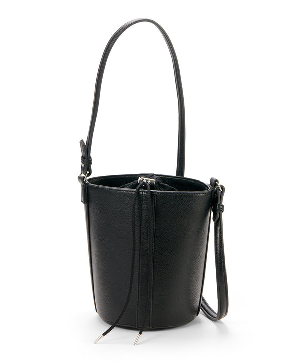 different material round bucket bag