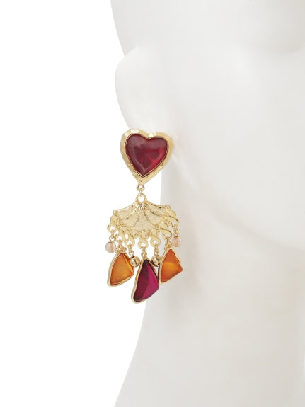 heart x stone earrings