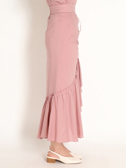 organics  cotton tiered long skirt
