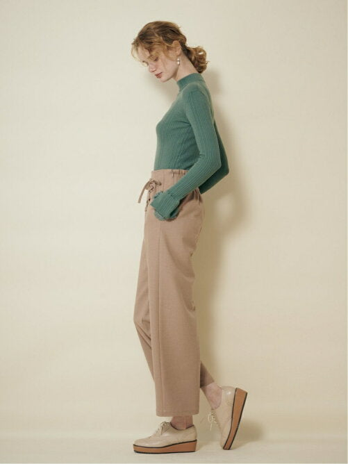 2way lace up ribbon pants