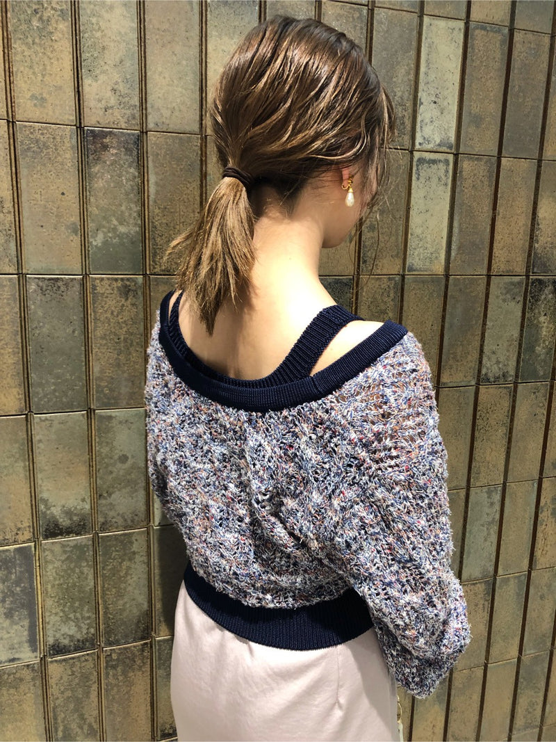mixed knit tank
