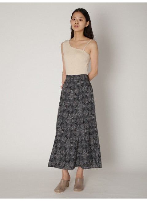 oriental pattern mermaid skirt