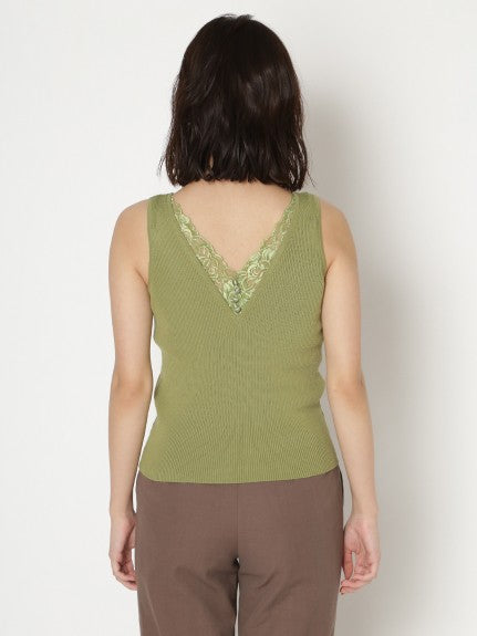back lace knit tank