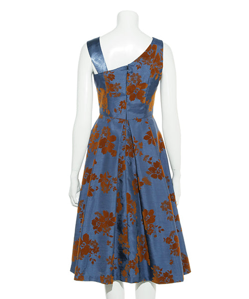 flower flocky dress