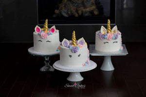 This is a cute birthday cake that we have in our special cakes collection. Our cakes are locally made in Calgary. Great for your daughter's cake!