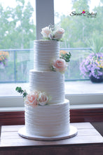 Load image into Gallery viewer, Wedding Cake 3 Tiered Cake (65ppl)