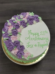 This is an amazing anniversary cake that we have in our special cakes collection. Our cakes are locally made in Calgary. Great for celebration cakes and special occasion cakes!