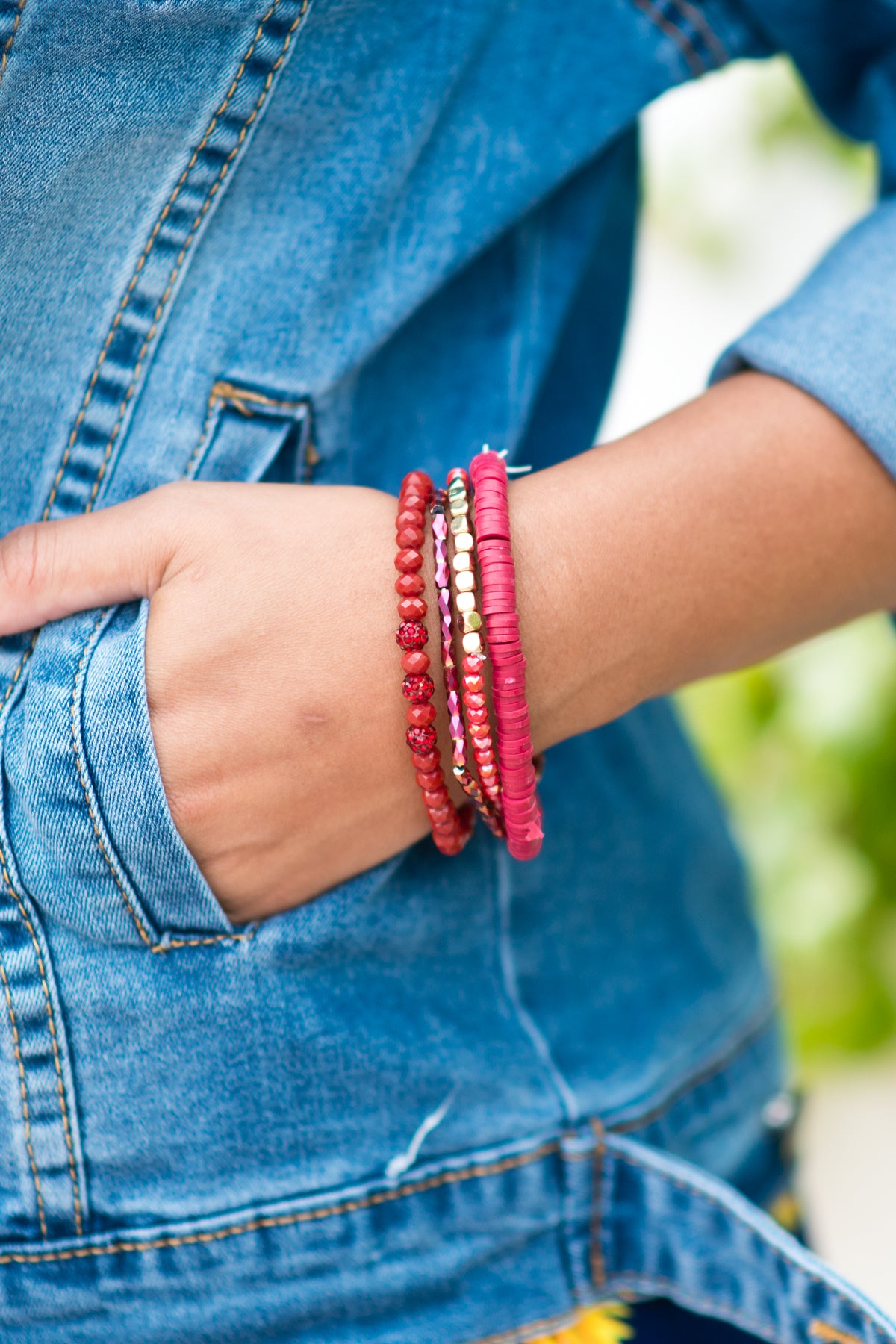 Bracelet Multiples Burgundy