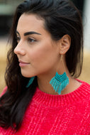 Tassel Turquoise  Earrings