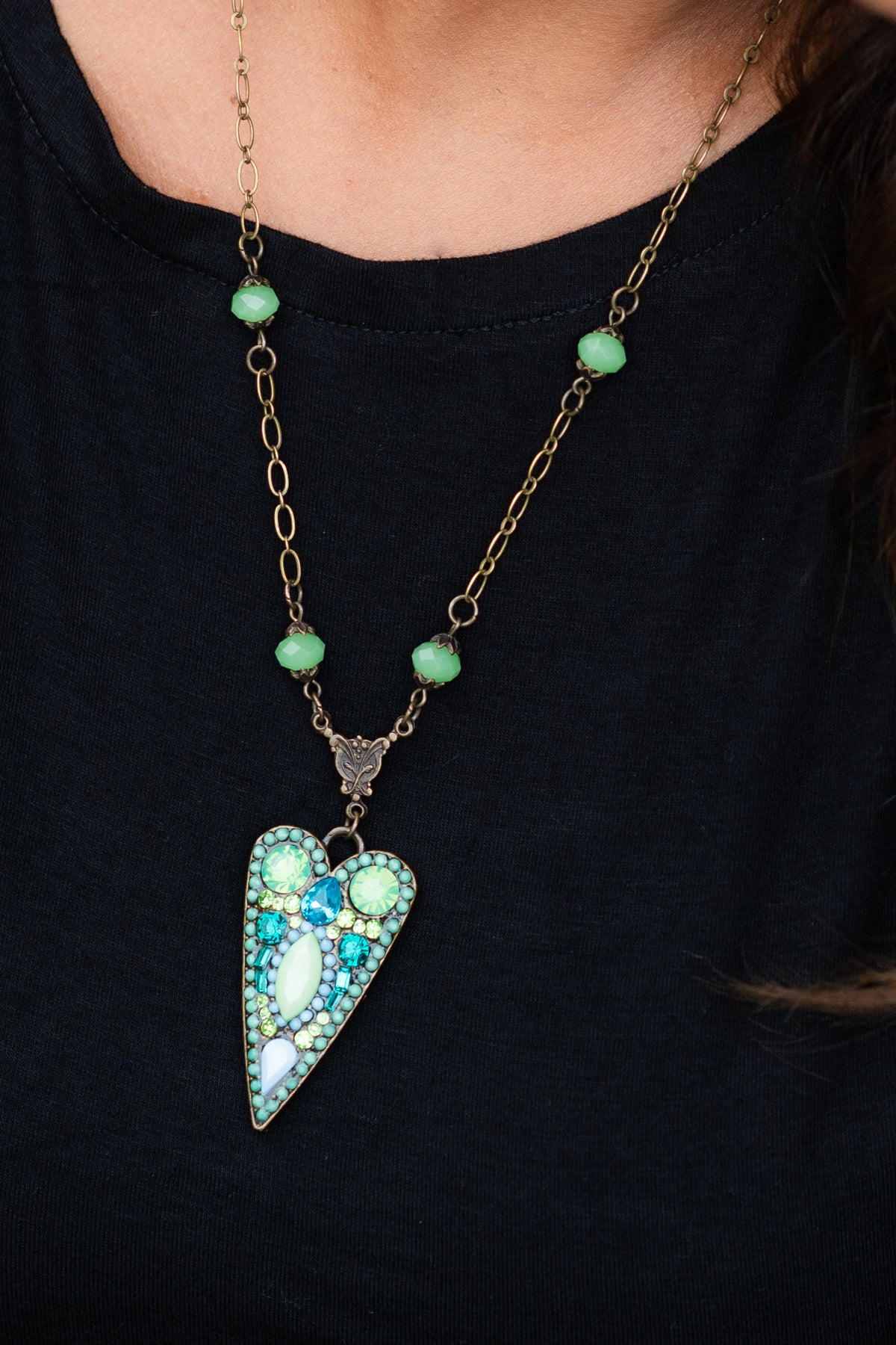 Jeweled Arrow Necklace
