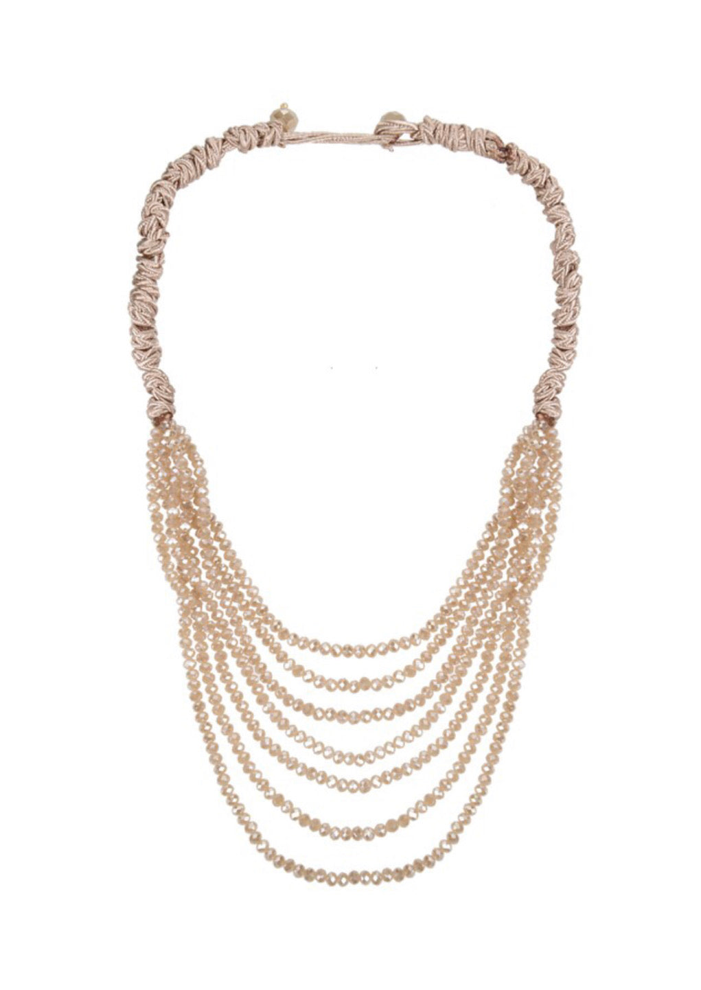 Beaded Cascade in Ivory Necklace