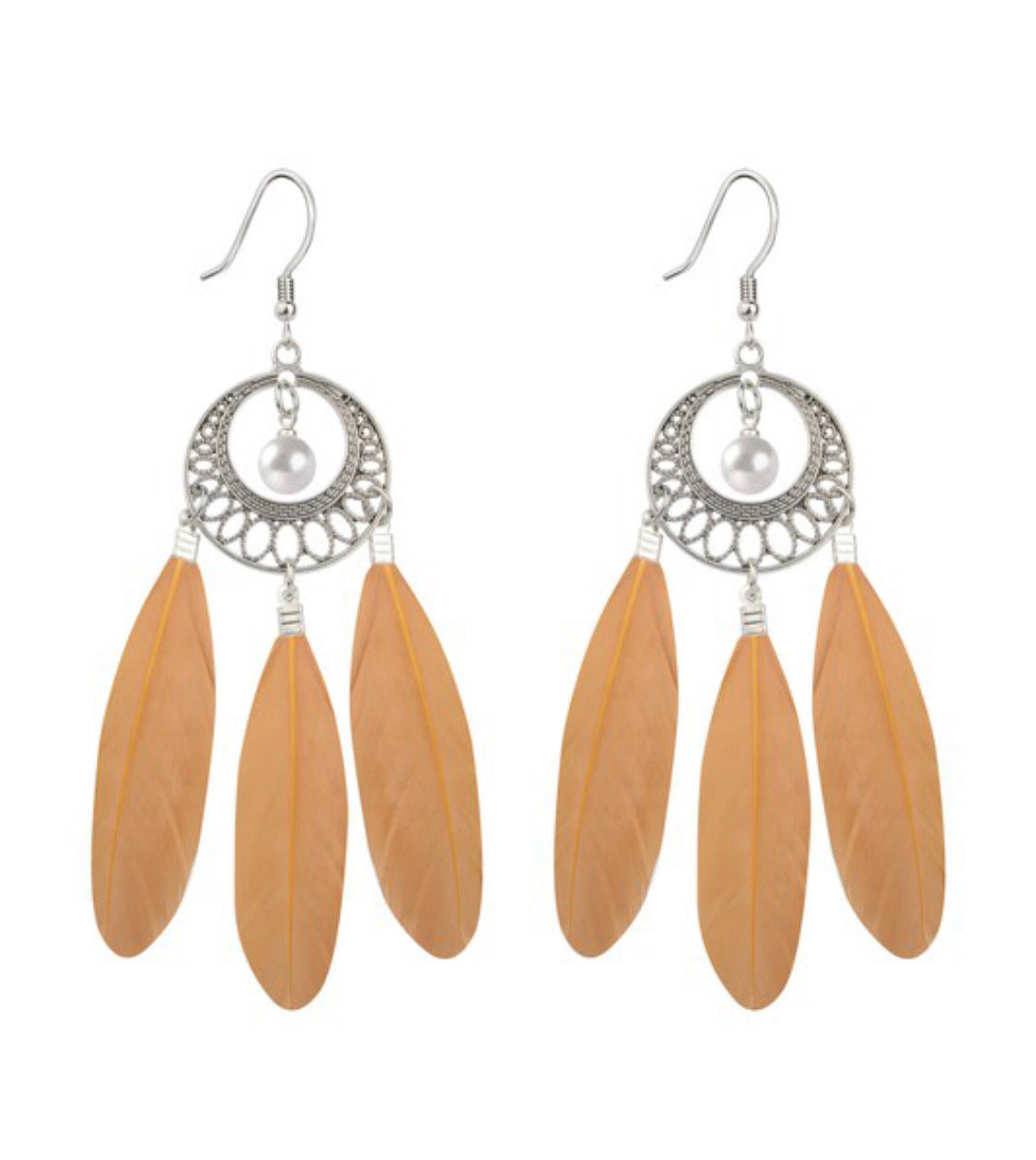 Dreamcatcher Feather E Earrings